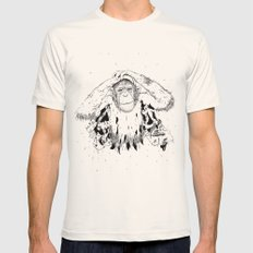 In the shadow of Man Mens Fitted Tee Natural SMALL