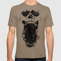 Chaos and Clarity ~ Black Mens Fitted Tee Tri-Coffee SMALL