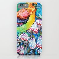 birds and mushrooms iPhone 6 Slim Case