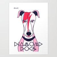 Diamonds Dogs Art Print
