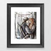 You Know Nothing, Jon Sn… Framed Art Print