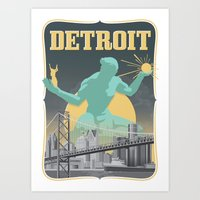 Spirit of Detroit Art Print