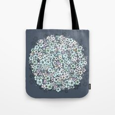 Flower Circle, mist blue Tote Bag