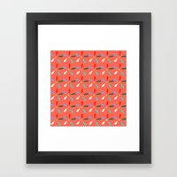 Flashy summer Framed Art Print