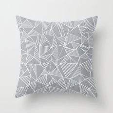 Abstraction Lines Grey Throw Pillow