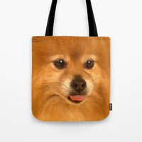 Cute Pomeranian Dog Tote Bag