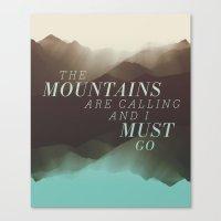 Mountains - Color Canvas Print