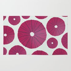 Sea's Design - Urchin Skeleton (Deep Pink) Rug