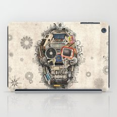 retro tech skull 2 iPad Case
