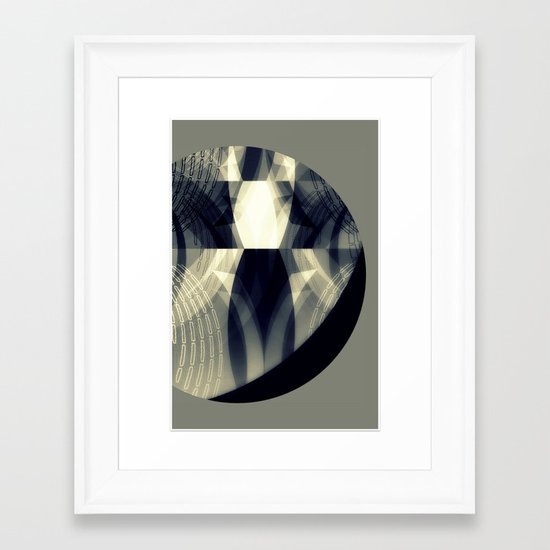 The moon is almost full tonight Framed Art Print