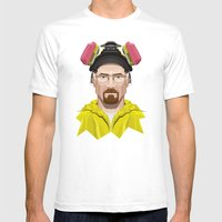 Breaking Bad - Walter White in Lab Gear Mens Fitted Tee White SMALL