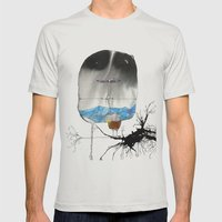 The Trouble With Flight Mens Fitted Tee Silver SMALL