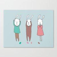 Three Wise Bunnes Canvas Print
