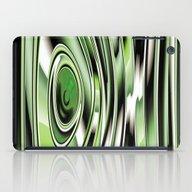 Abstract Circle Green Ve… iPad Case