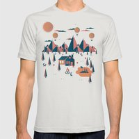Retreat Mens Fitted Tee Silver SMALL