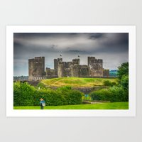 Caerphilly Castle East View 1 Art Print