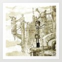 Old new city Art Print