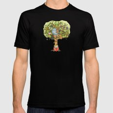 StoryTime Tree SMALL Black Mens Fitted Tee