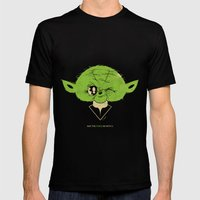 StarWars May the Force be with you (green vers.) Mens Fitted Tee Black SMALL