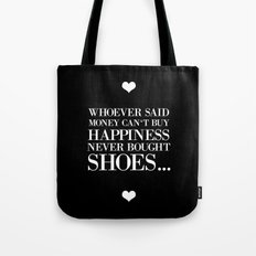 happiness black Tote Bag