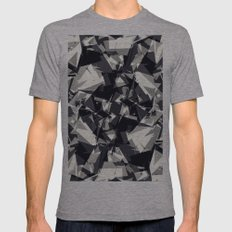 Modern Jagged Black, Gra… Mens Fitted Tee Athletic Grey SMALL