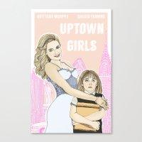 Uptown Girls Canvas Print