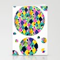 Geo Brights Stationery Cards