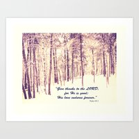 Give Thanks To The Lord Art Print