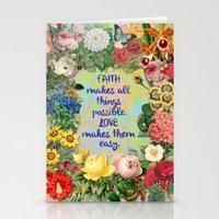 Faith And Love Stationery Cards