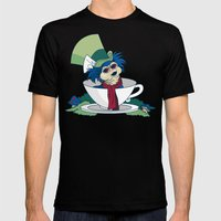 A Nice Cup Of Tea Mens Fitted Tee Black SMALL
