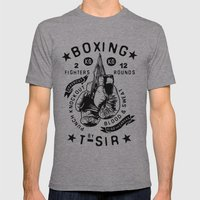 Boxing Mens Fitted Tee Athletic Grey SMALL