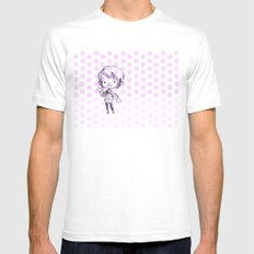 Chibi Momo White Mens Fitted Tee SMALL
