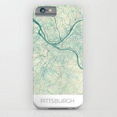 Pittsburgh Map Blue Vintage Slim Case iPhone 6s