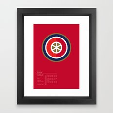Arsenal geometric logo Framed Art Print