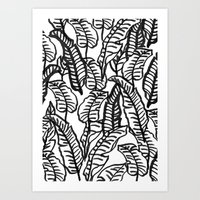 Banana Jungle Art Print