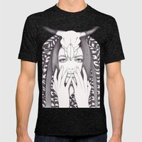 Spirit Warrior Mens Fitted Tee Tri-Black SMALL