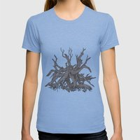 Driftwood Womens Fitted Tee Athletic Blue SMALL