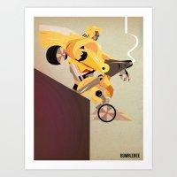 Oops (BumbleBee) Art Print