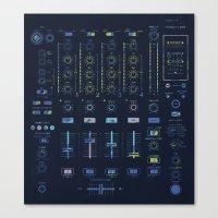 DJ Mixer Canvas Print