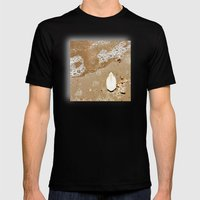 Cuttlefish Bone on Wet Sand Mens Fitted Tee Black SMALL