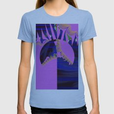 hungry Womens Fitted Tee Athletic Blue SMALL