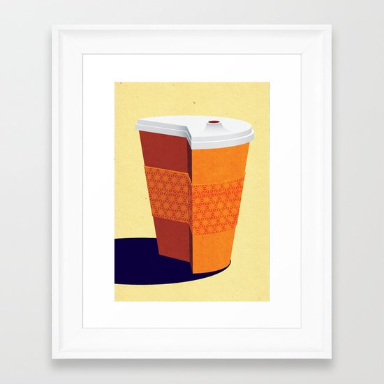 Cut down on Coffee Framed Art Print