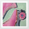 """Pink Skate"" Art Print"
