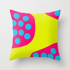 Green Purple Dots Throw Pillow