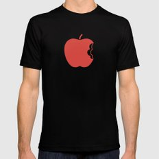 Apple 30 SMALL Black Mens Fitted Tee