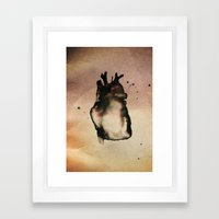 On love, Framed Art Print