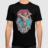 Zombie Little Mermaid 2 Mens Fitted Tee Black SMALL