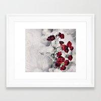 Winter  Red Roses Framed Art Print