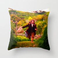Bilbo's Adventure Begins - Painting Style Throw Pillow