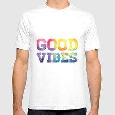 Good Vibes Mens Fitted Tee White SMALL
